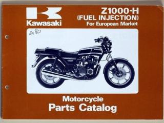 Catalogue des pièces détachées + pièces du Z1000 H injection (Anglais)
