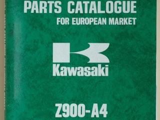 Catalogue de pièces détachées et références Z 900 A4 1976 (Anglais)