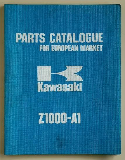 Catalogue de pièces détachées et références Z1000 A1 1977 (Anglais)
