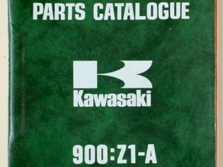 Catalogue de pièces détachées et références 900 Z1A 1974 et Z1B 1975 (Anglais)