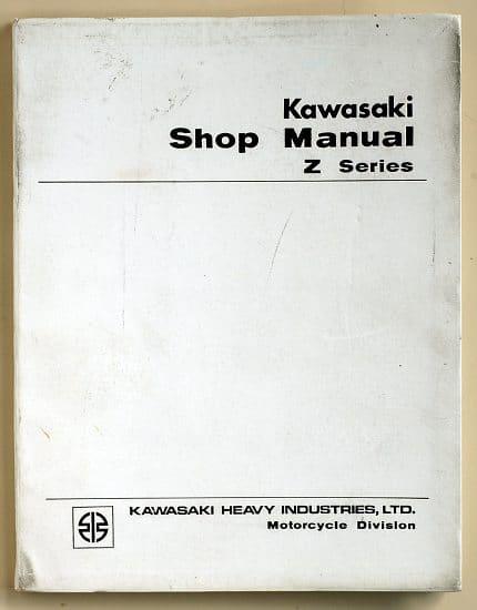 Manuel d'atelier en Anglais 900 Z1 1973