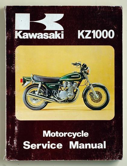 Manuel d'atelier en Anglais Z1000 A2 1978