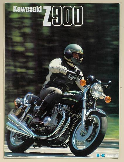 Publicité du Z 900 A4 1976 en trois volets