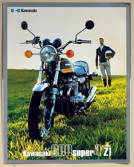 Publicité 900 Z1A 1974 en trois volets