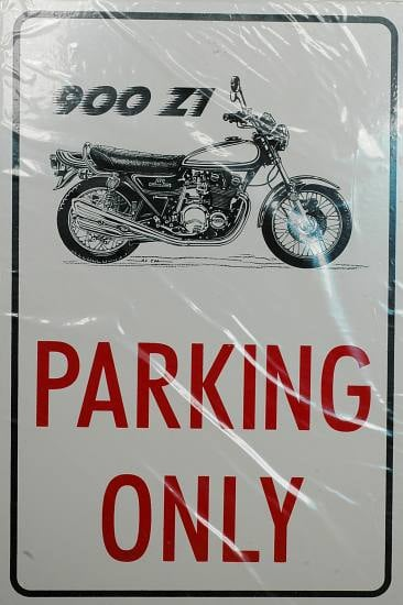 "Plaque PVC ""Parking Only"" blanche"