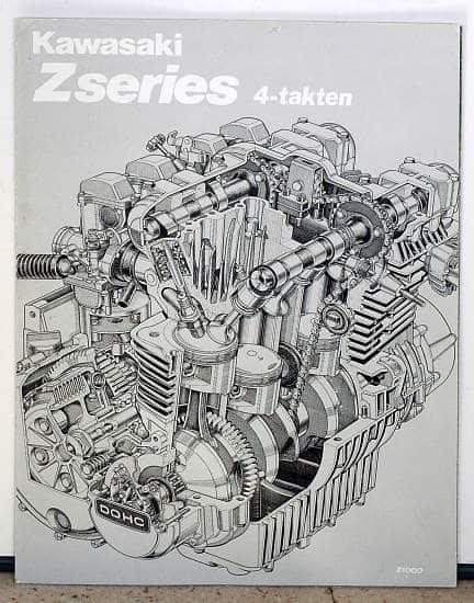 Publicité Z1000 A2 - Z1R - Z 650 - Z 750 - Z 400 - Z 200 en trois volets